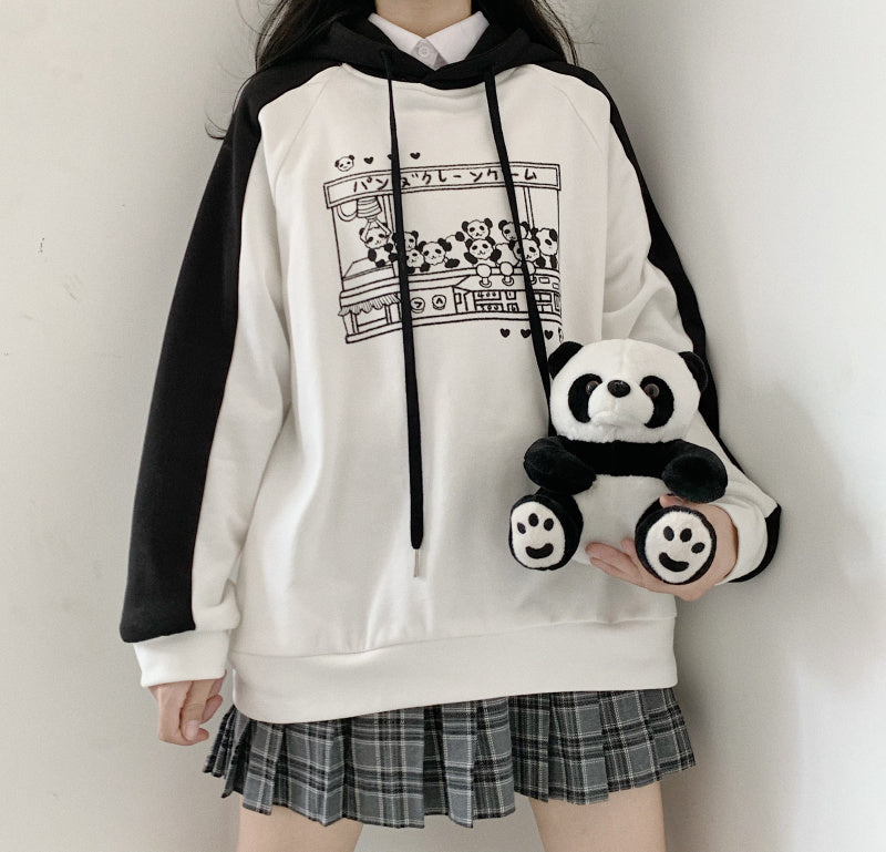 Panda doll machine print sweater PL21146
