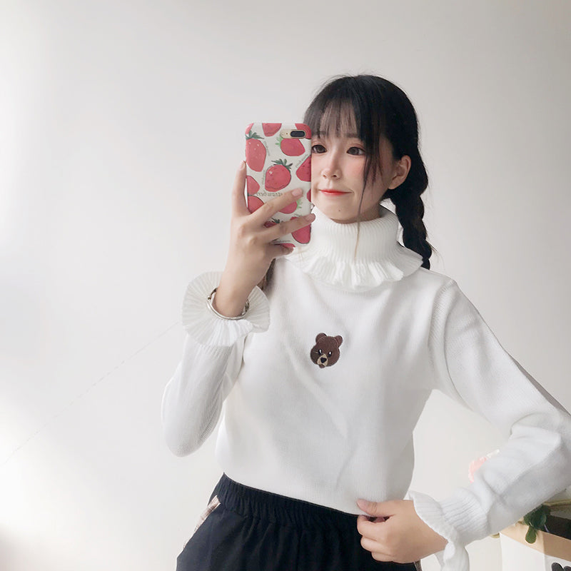 Bear embroidered sweater  PL21220