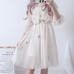 Lolita Lantern Sleeve Gauze Dress  PL20044
