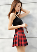 Lolita Plaid High Waist Zip Skirt  PL20157