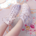 Lolita rhinestone high canvas shoes     PL20172