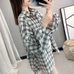 Loose plaid shirt PL20339