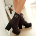 Winter plus velvet thick heel Martin boots PL20434
