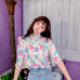 Loose flower shirt  PL20442
