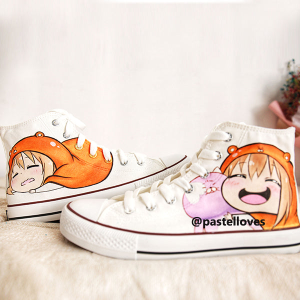 Pastelloves Himouto! Umaru-chan hand-painted shoes PL20771