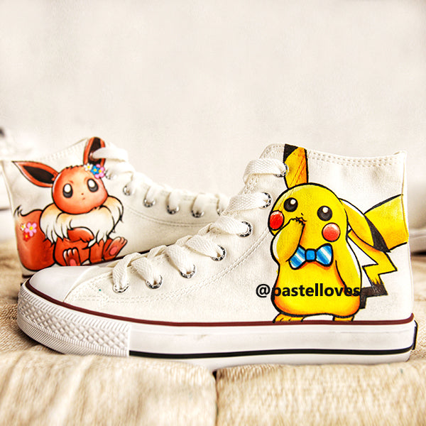 Pastelloves Pikachu Handmade Painting Shoes PL20774