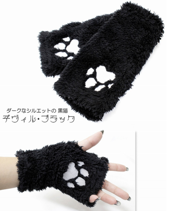 Dark cat cat bat scarf PL21035