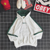 Couple letter embroidery hooded sweater PL21041