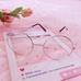 College style literary flat glasses PL21258