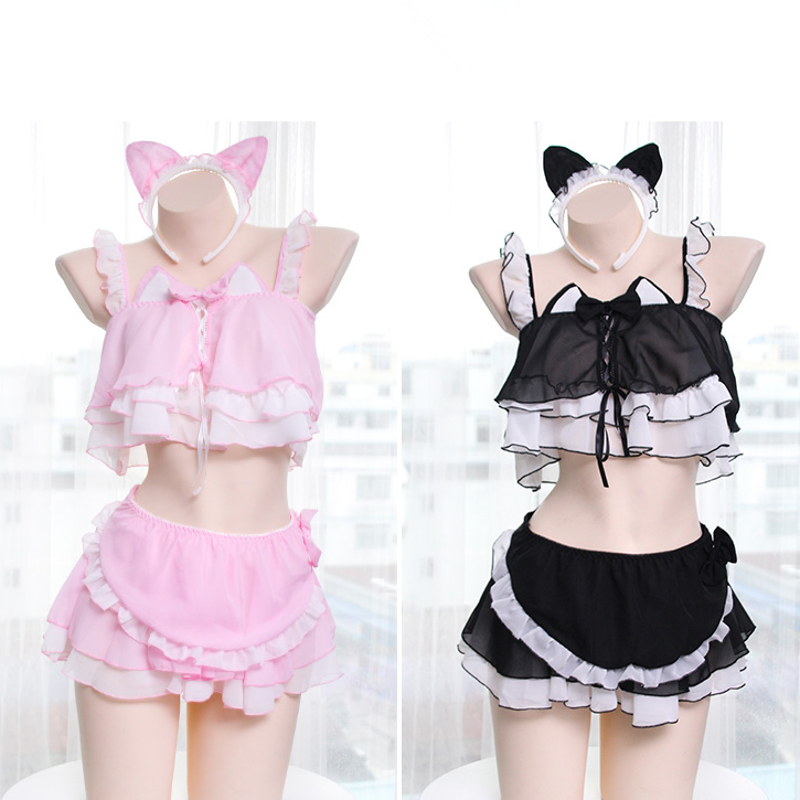 Cute cat two piece set PL50414