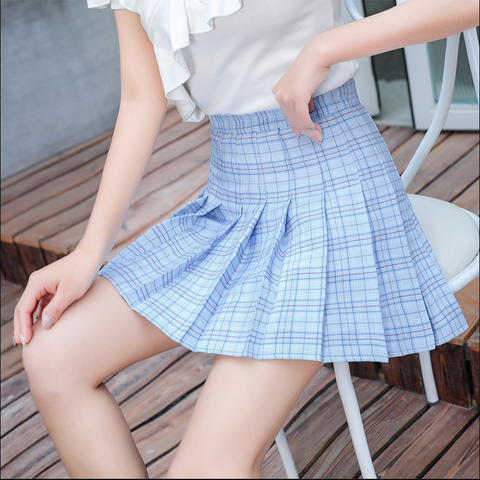Plaid pleated skirt PL50510