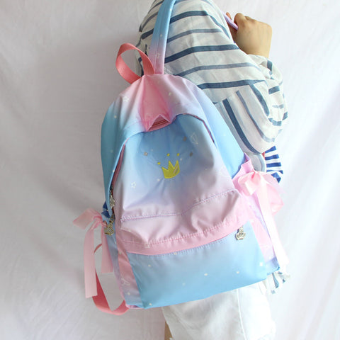 Crown embroidery gradient backpack  PL21152