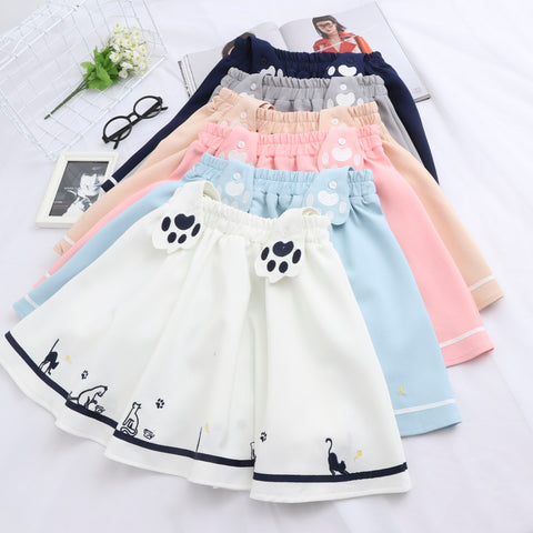 Embroidered cat strap skirt PL50411