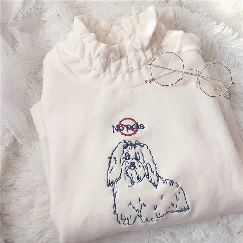 Pastelloves dog embroidery sweater PL21101