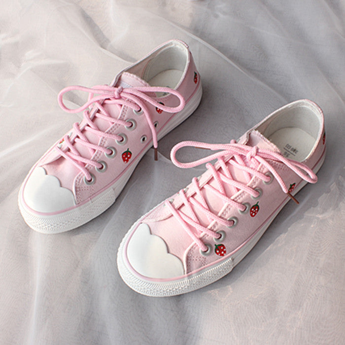 Harajuku style strawberry sneakers     PL20164