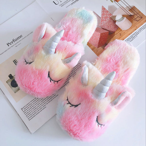 Ice cream unicorn slippers PL10319