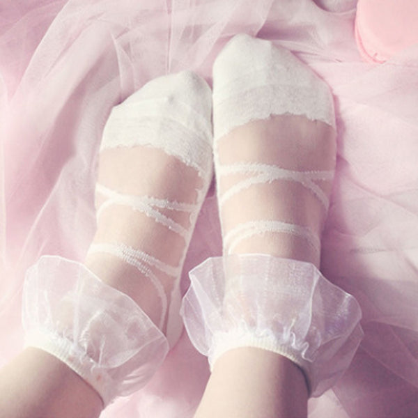 Glass silk crystal socks (two pairs) PL10101