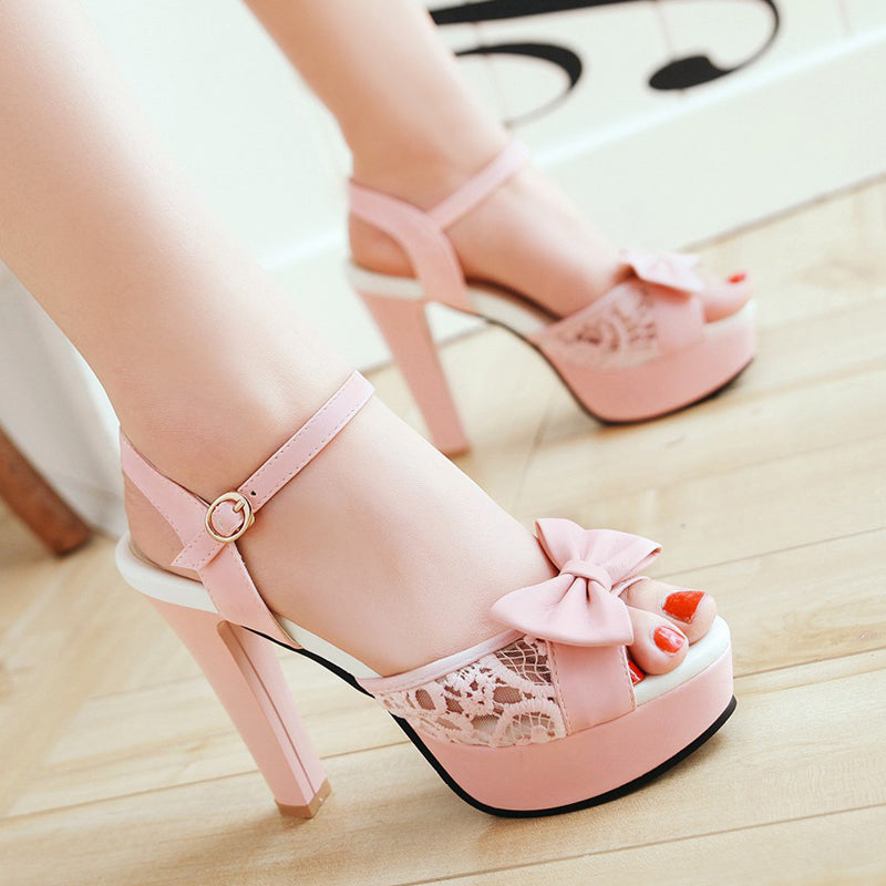 Sweet bow high heels PL50164