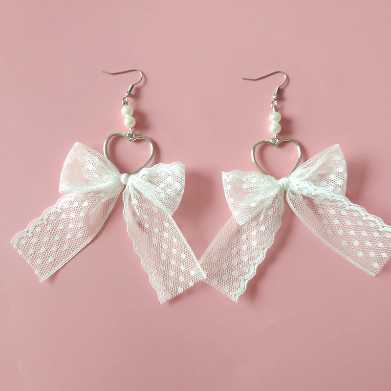 Lace bow earrings PL50173