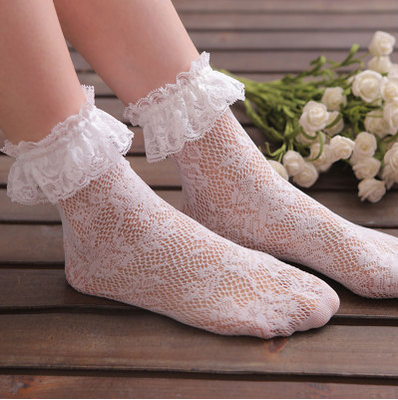 Lolita lace openwork socks (two pairs) PL20251