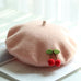 Wool cherry beret PL10194