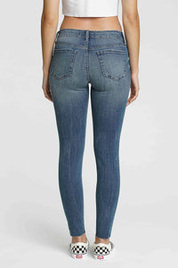 Distressed Jude Mid Rise Denim