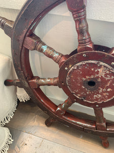 "37"" Salvaged Vintage Ship Wheel"