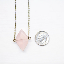 Rose Quartz Diamond Necklace