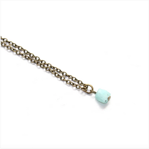 Amazonite Dainty Stacking Anklet