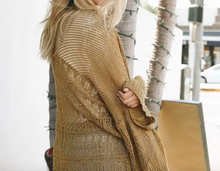 Knit Cardigan in Moss / Bronze