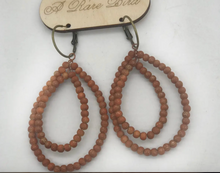 Hand-dyed Teakwood Earrings - Various Colors