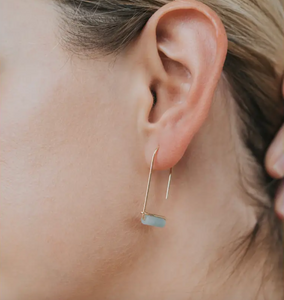 Jaxkelly Amazonite Gemstone Drop Earrings