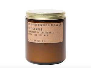 P. F. Candle Co.  Teakwood & Tobacco Soy Candle 7.2oz