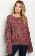 Marble Mauve Sweater