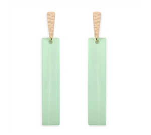 Bar Shape Shell Earrings