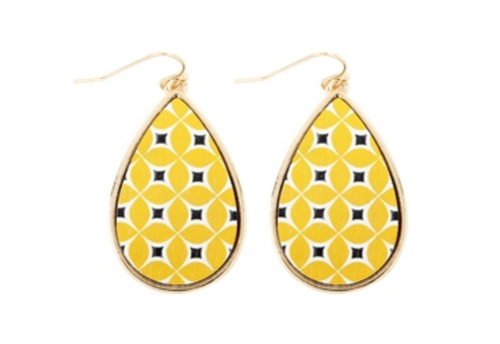 Moroccan Fish Hook Teardrop Earrings