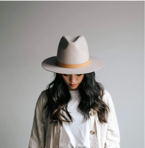 Billie Tall Fedora - Ivory