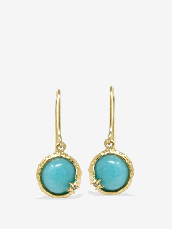 Ad Astra Gold-plated Amazonite Earrings