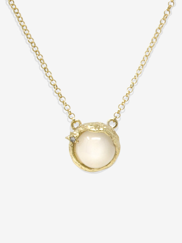 Ad Astra Gold-plated Moonstone Necklace