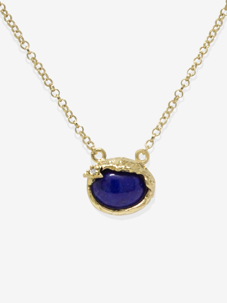 Ad Astra Gold-plated Lapis Lazuli Necklace