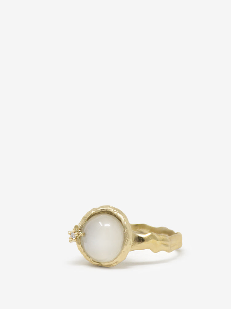 Ad Astra Gold-plated Moonstone Ring