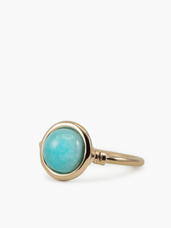Vintouch Satellite Rose Gold Amazonite Ring