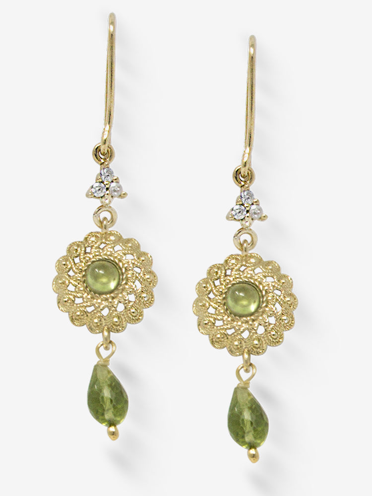 Filigrana Gold-plated Peridot Earrings