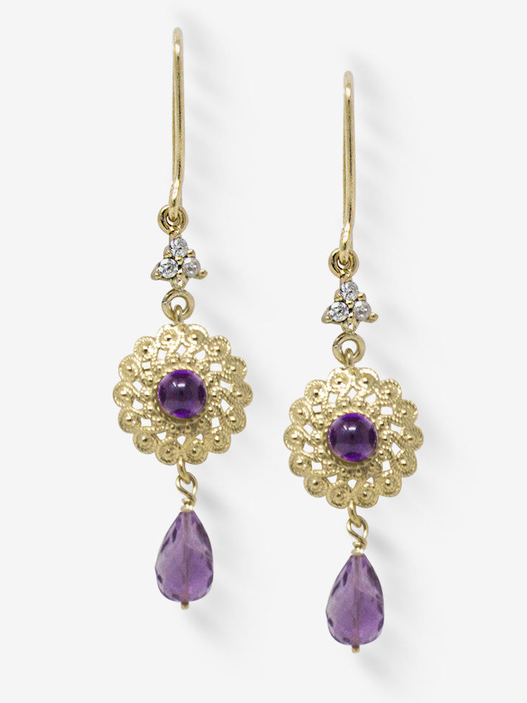 Filigrana Gold-plated Amethyst Earrings