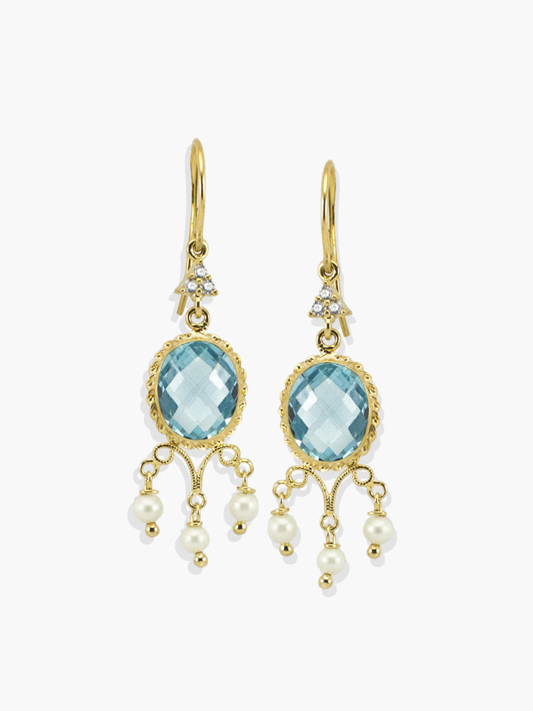 Positano Sky Blue Topaz Earrings