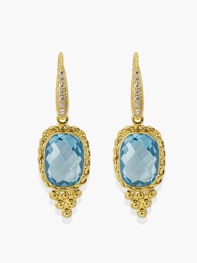 Juno Sky Blue Topaz Earrings