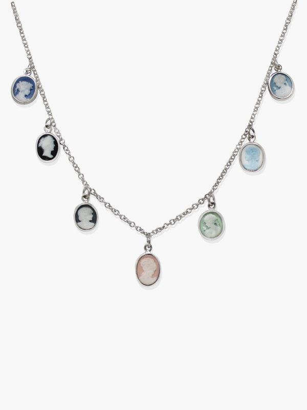 Mini Cameo Multicolor Necklace