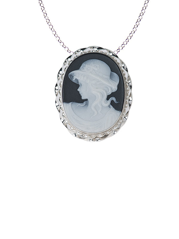 Iris Cameo Necklace