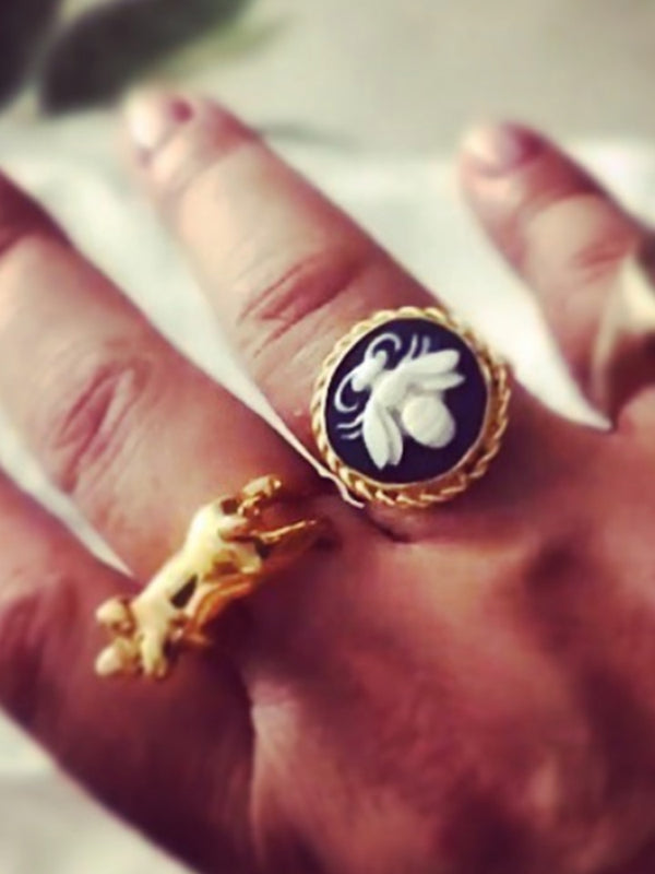 Bee Cameo Ring