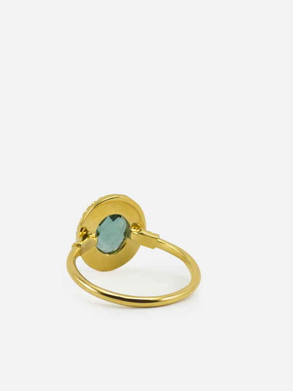 Luccichio Green Agate Stacking Ring